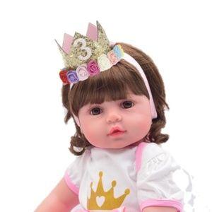 Other - Baby Girl 1 2 3 Birthday Headband Hair Crown